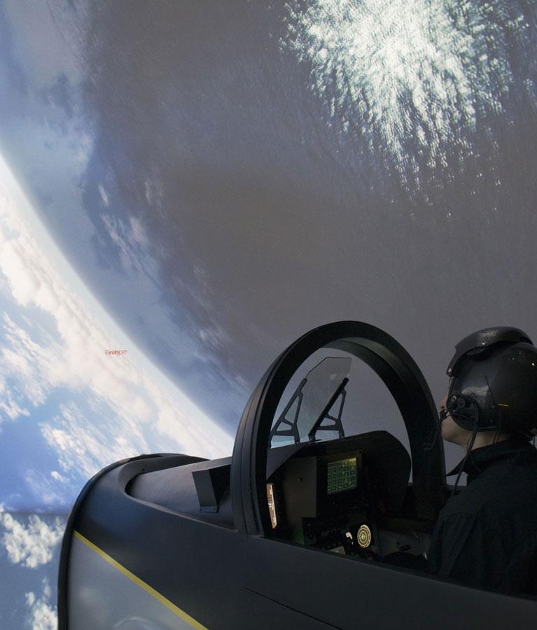 Simulateur Avion de Chasse - Vol inversé
